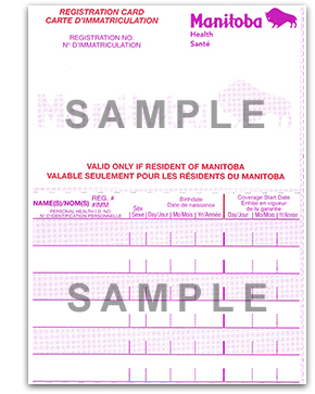 Manitoba Health card